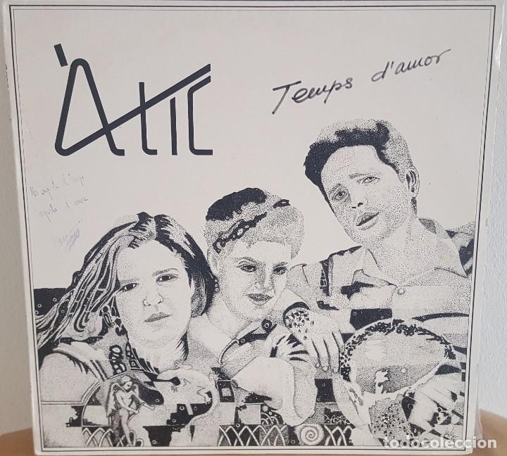 LP / ATIC - TEMPS D'AMOR, 1986 (Música - Discos - LP Vinilo - Grupos Españoles de los 70 y 80)
