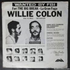 Discos de vinilo: WILLIE COLON LA GRAN FUGA. Lote 254976035
