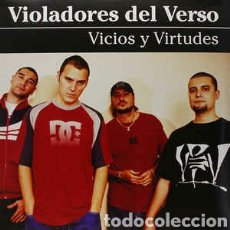 Discos de vinilo: VIOLADORES DEL VERSO–VICIOS Y VIRTUDES . DOBLE LP VINILO PRECINTADO. HIP HOP. Lote 254980655