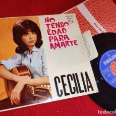 Discos de vinilo: CECILIA NO TENGO EDAD PARA AMARTE/SOL Y SOL/SABADO NOCHE/TU LLORAS POR NADA EP 1964 PHILIPS EX. Lote 254984270