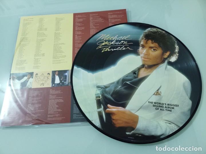 Discos de vinilo: MICHAEL JACKSON - THRILLER ..LP - PICTURE DISC DE 2008 - NUEVO - Foto 2 - 254984310