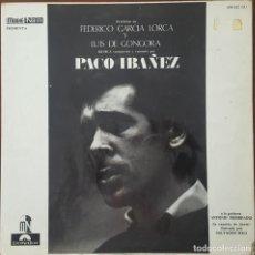 Discos de vinilo: LP / PACO IBAÑEZ - POEMAS DE FEDERICO GARCIA LORCA Y LUIS DE GONGORA, 1964. Lote 254984455