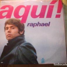 Discos de vinilo: RAPHAEL AQUÍ!. Lote 254985075