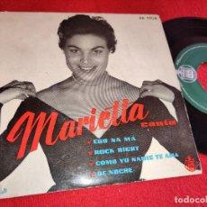Discos de vinilo: MARIETTA ESO NA MA/ROCK RIGHT/COMO YO NADIE TE AMA/DE NOCHE EP 1958 HISPAVOX. Lote 254986890