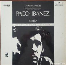 Discos de vinilo: LP / PACO IBAÑEZ - LA POESIA ESPAÑOLA DE AHORA Y DE SIEMPRE, 1972. Lote 254988390