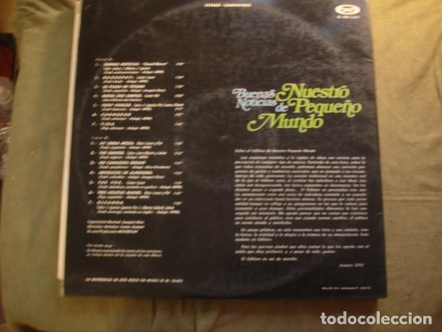 Discos de vinilo: Nuestro Pequeño Mundo  Buenas Noticias - Foto 3 - 254990195
