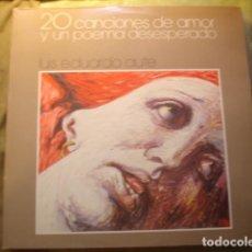 Discos de vinilo: LUIS EDUARDO AUTE 20 CANCIONES DE AMOR Y UN POEMA DESESPERADO. Lote 254992395