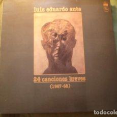 Discos de vinilo: LUIS EDUARDO AUTE 24 CANCIONES BREVES (1967-68). Lote 254992785