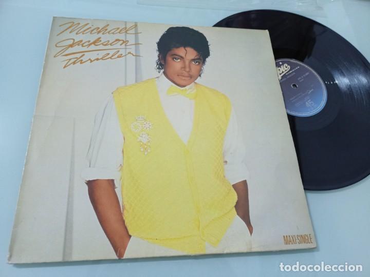 MICHAEL JACKSON - THRILLER .. MAXISINGLE DE EPIC ESPAÑOL DE 1983 - BUEN ESTADO (Música - Discos de Vinilo - Maxi Singles - Funk, Soul y Black Music)