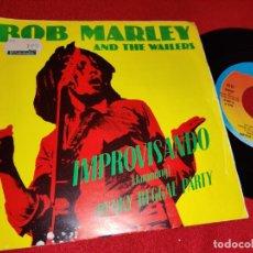 Discos de vinilo: BOB MARLEY AND THE WAILERS IMPROVISANDO JAMMING/PUNKY REGGAE PARTY 7'' SINGLE 1977 ISLAND ESPAÑA. Lote 254994535