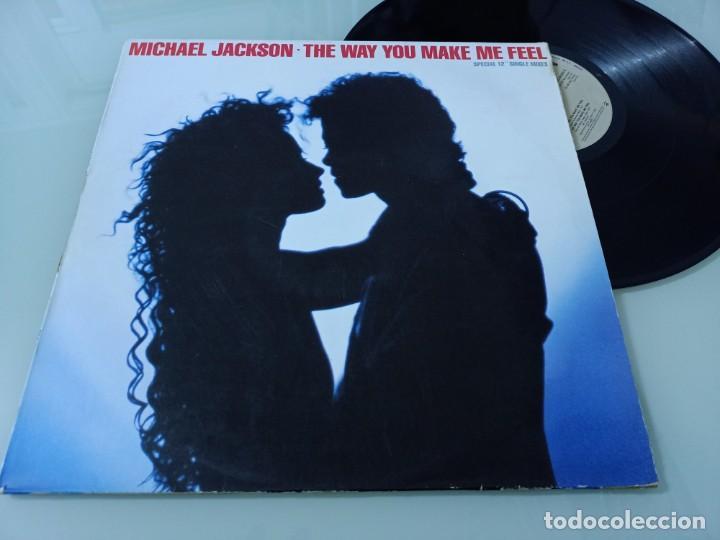Discos de vinilo: MICHAEL JACKSON - THE WAY YOU MAKE ME FEEL .. MAXISINGLE ESPAÑOL DE 1987 - BUEN ESTADO - Foto 2 - 254994680