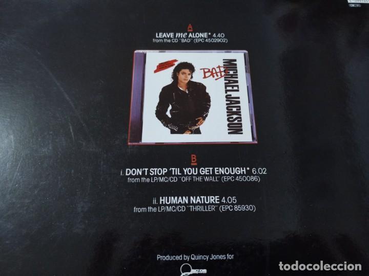 Discos de vinilo: MICHAEL JACKSON - LEAVE ME ALONE ... MAXISINGLE DEL AÑO 1989 - EDICION ESPAÑOLA - BUEN ESTADO - Foto 2 - 254997235