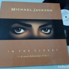 Discos de vinilo: MICHAEL JACKSON - IN THE CLOSET ..MAXISINGLE - MIXES BEHIND DOOR 1 - EPIC - 1992 - BUEN ESTADO. Lote 254998040