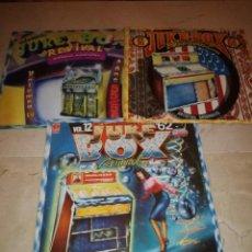 Discos de vinilo: LOTE DE 3 LPS DE COLECCION JUKE BOX-VOL 4, 12 Y 16-ARTISTAS ORIGINALES. Lote 254998785