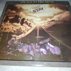 Discos de vinilo: JACKSON BROWNE-RUNNING ON EMPTY-ORIGINAL ESPAÑOL 1978-CONTIENE ENCARTE-EXCELENTE ESTADO. Lote 255001585