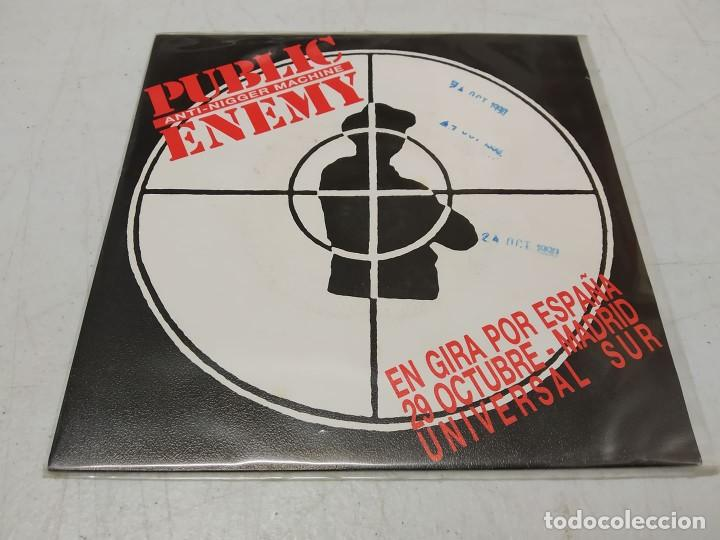 PUBLIC ENEMY ‎– ANTI-NIGGER MACHINE SINGLE PROMOCIONAL ESPAÑOL 1990 (Música - Discos - Singles Vinilo - Rap / Hip Hop)