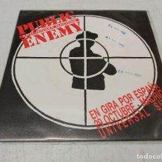 Discos de vinilo: PUBLIC ENEMY – ANTI-NIGGER MACHINE SINGLE PROMOCIONAL ESPAÑOL 1990. Lote 255011900