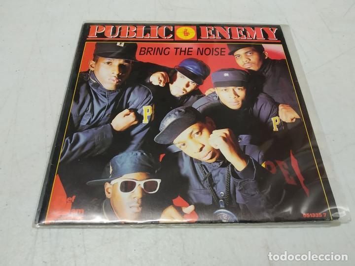 PUBLIC ENEMY – BRING THE NOISE -SINGLE PROMO ESPAÑOL 1988 (Música - Discos - Singles Vinilo - Rap / Hip Hop)