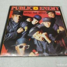 Discos de vinilo: PUBLIC ENEMY – BRING THE NOISE -SINGLE PROMO ESPAÑOL 1988. Lote 255012070