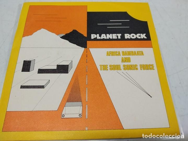 AFRIKA BAMBAATAA & THE SOUL SONIC FORCE MUSIC BY PLANET PATROL – PLANET ROCK-EDICION SPAIN 1983- (Música - Discos - Singles Vinilo - Rap / Hip Hop)