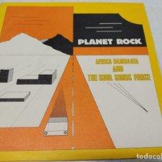 Discos de vinilo: AFRIKA BAMBAATAA & THE SOUL SONIC FORCE MUSIC BY PLANET PATROL – PLANET ROCK-EDICION SPAIN 1983-. Lote 255012515