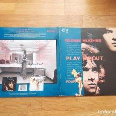 Discos de vinilo: GLENN HUGHES - PLAY ME OUT (1977) / FOUR ON THE FLOOR (1979) - DOBLE LP VINILO. Lote 255014035
