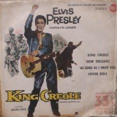 Discos de vinilo: ELVIS PRESLEY KING CREOLE AÑO 61. Lote 255018155