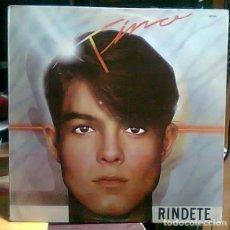 Discos de vinilo: TINO DE PARCHIS RINDETE LP 1984 IMPORTADO DE COLECCION. Lote 255306170