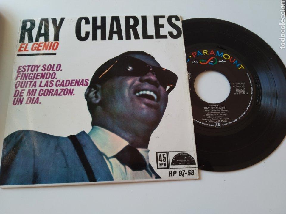 DISCO VINILO EP 7 RAY CHARLES EL GENIO. HP 97-58. (Música - Discos de Vinilo - EPs - Funk, Soul y Black Music)
