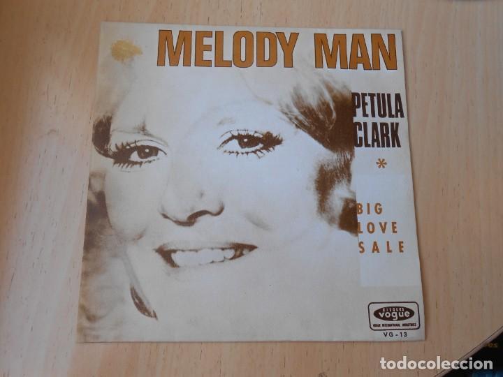 PETULA CLARK, SG, MELODY MAN + 1 , AÑO 1970 PROMO (Música - Discos - Singles Vinilo - Pop - Rock - Internacional de los 70)