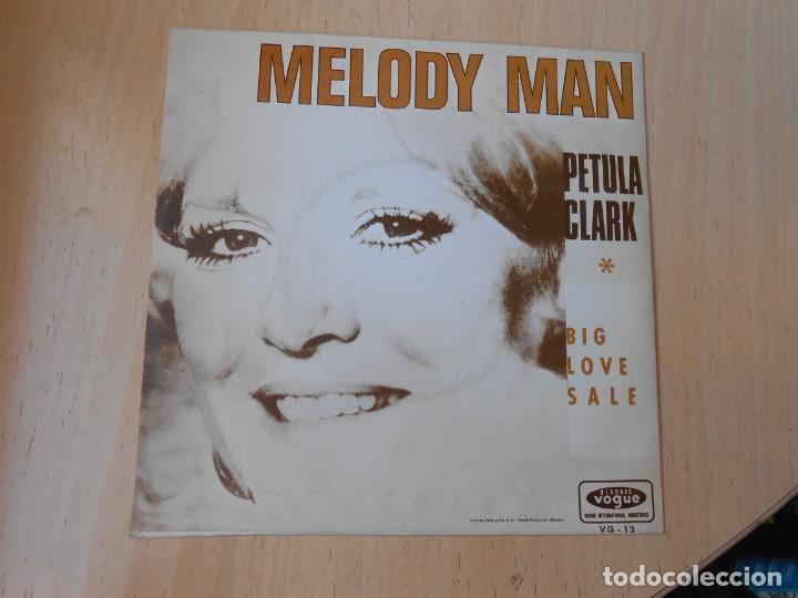 Discos de vinilo: PETULA CLARK, SG, MELODY MAN + 1 , AÑO 1970 PROMO - Foto 2 - 255336075