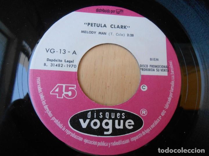 Discos de vinilo: PETULA CLARK, SG, MELODY MAN + 1 , AÑO 1970 PROMO - Foto 3 - 255336075