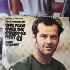 Discos de vinilo: JACK NICHOLSON ONE FLEW OVER THE CUCKOO'S NEST ALGUIEN VOLÓ SOBRE EL NIDO DEL CUCO. Lote 255339870