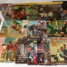 Discos de vinilo: DUO DINÁMICO 18 SINGLES BUEN ESTADO. Lote 255345640