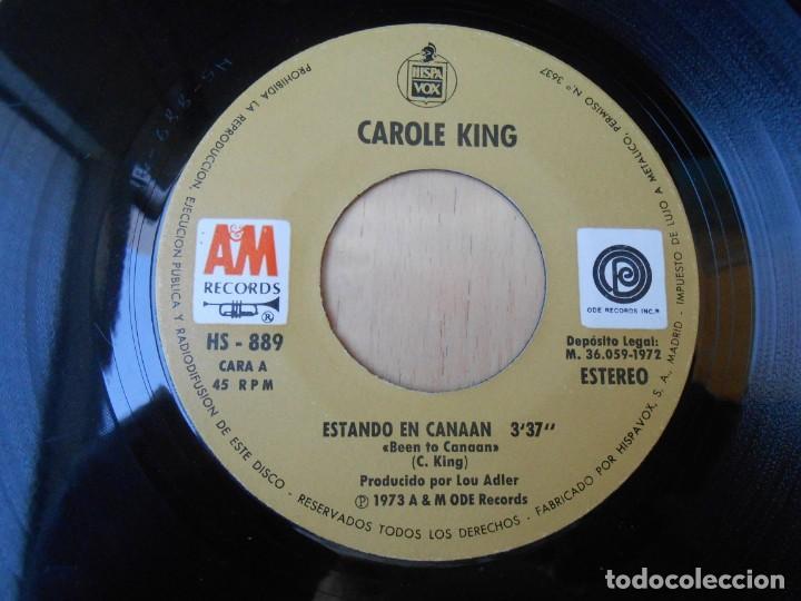 Discos de vinilo: CAROLE KING, SG, ESTANDO EN CANAAN (BEEN TO CANAAN) + 1 , AÑO 1972 - Foto 3 - 255347750