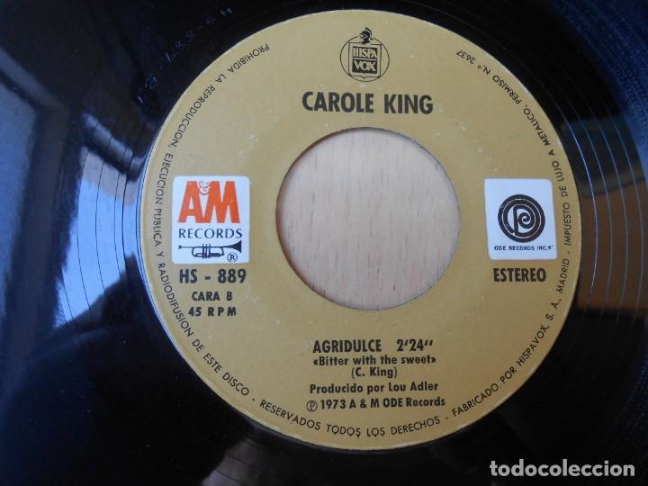 Discos de vinilo: CAROLE KING, SG, ESTANDO EN CANAAN (BEEN TO CANAAN) + 1 , AÑO 1972 - Foto 4 - 255347750