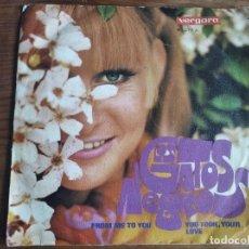 Discos de vinilo: LOS GATOS NEGROS - FROM ME TO YOU ***** RARO SINGLE 1969 VERSIÓN THE BEATLES. Lote 255352845