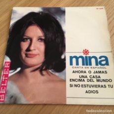 Discos de vinilo: MINA CANTA EN ESPAÑOL AHORA O JAMAS BELTER MUY BIEN CONSERVADO. Lote 255356025