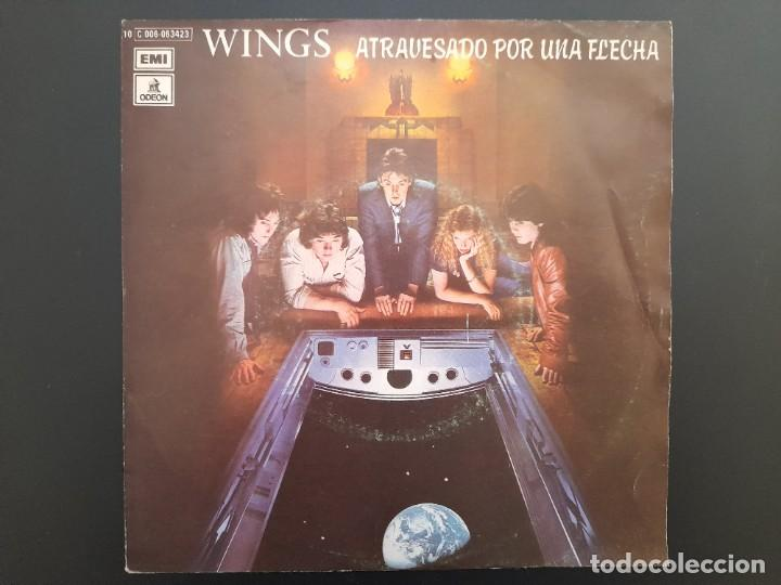 PAUL MCCARTNEY WINGS - ATRAVESADO POR UNA FLECHA-SINGLE NUNCA ESTRENADO 1979 BEATLES (Música - Discos - Singles Vinilo - Pop - Rock - Internacional de los 70)