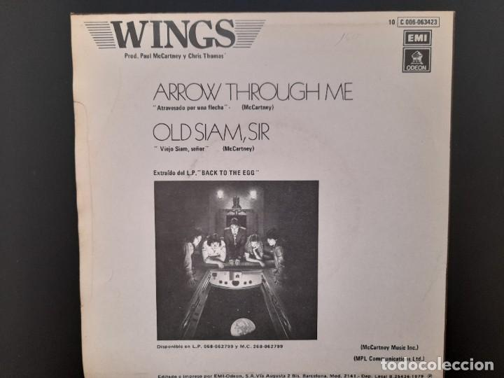 Discos de vinilo: PAUL MCCARTNEY WINGS - ATRAVESADO POR UNA FLECHA-SINGLE Nunca estrenado 1979 BEATLES - Foto 2 - 255356345