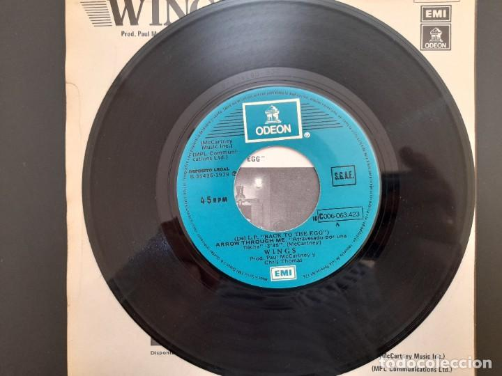 Discos de vinilo: PAUL MCCARTNEY WINGS - ATRAVESADO POR UNA FLECHA-SINGLE Nunca estrenado 1979 BEATLES - Foto 3 - 255356345