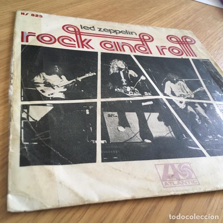 Discos de vinilo: LED ZEPPELIN ROCK AND ROLL ( SOLO PORTADA ) SIN DISCO BASTANTE USO - Foto 2 - 255357275