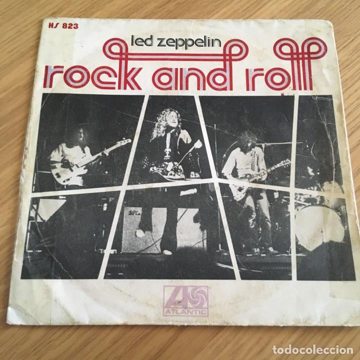 LED ZEPPELIN ROCK AND ROLL ( SOLO PORTADA ) SIN DISCO BASTANTE USO (Música - Discos - Singles Vinilo - Pop - Rock - Internacional de los 70)