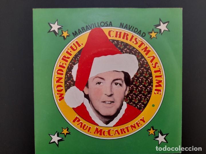 SINGLE PAUL MCCARTNEY BEATLES WONDERFUL CHRISTMAS 1979 PROMOCIONAL SIN ESTRENAR (Música - Discos - Singles Vinilo - Pop - Rock - Internacional de los 70)