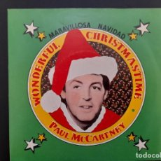 Discos de vinilo: SINGLE PAUL MCCARTNEY BEATLES WONDERFUL CHRISTMAS 1979 PROMOCIONAL SIN ESTRENAR. Lote 255358660