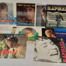 Discos de vinilo: RAPHAEL 9 SINGLES AÑOS 60 BUEN ESTADO. Lote 255371875