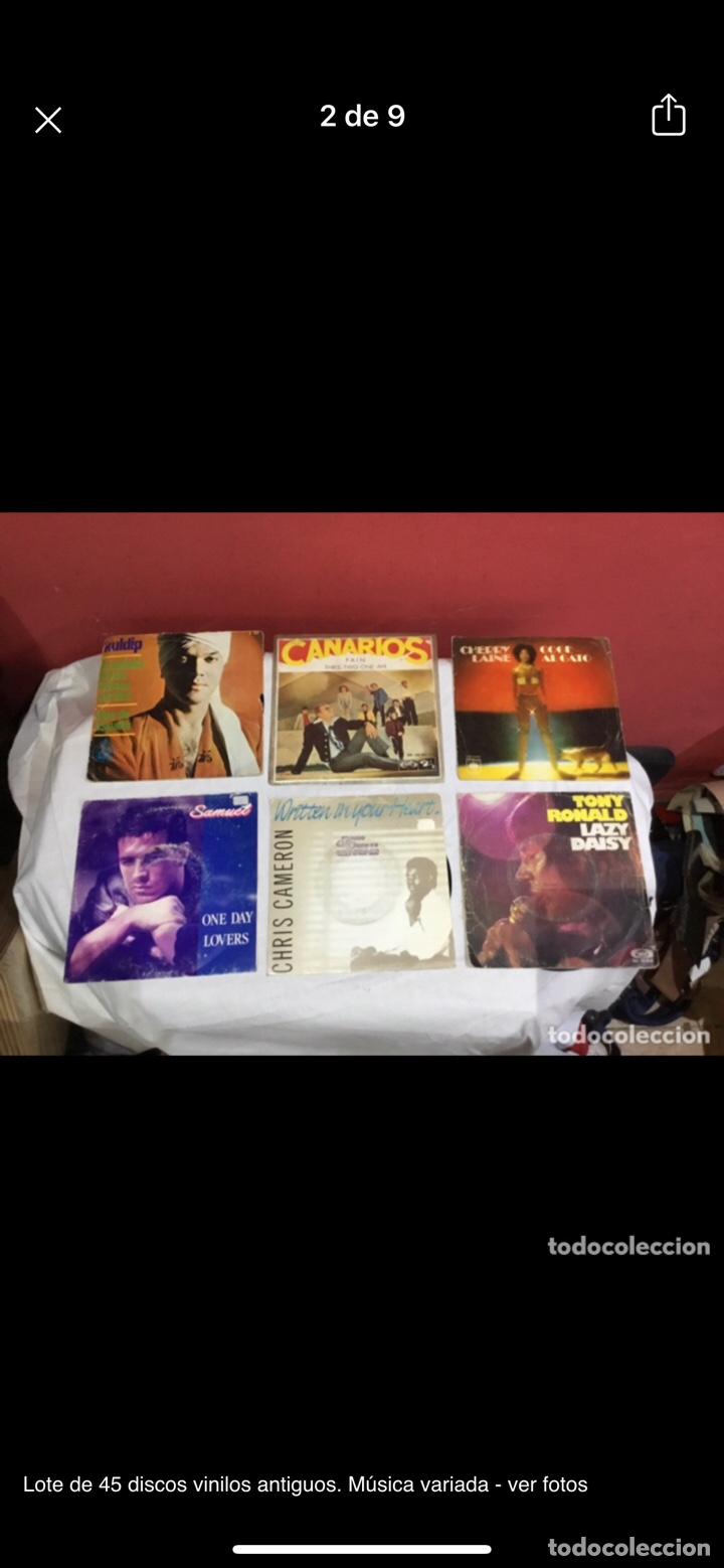Discos de vinilo: Lote de 45 discos vinilos antiguos. Música variada - ver fotos - Foto 2 - 255380525