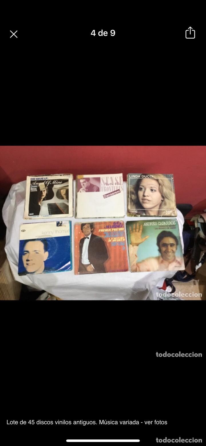 Discos de vinilo: Lote de 45 discos vinilos antiguos. Música variada - ver fotos - Foto 4 - 255380525