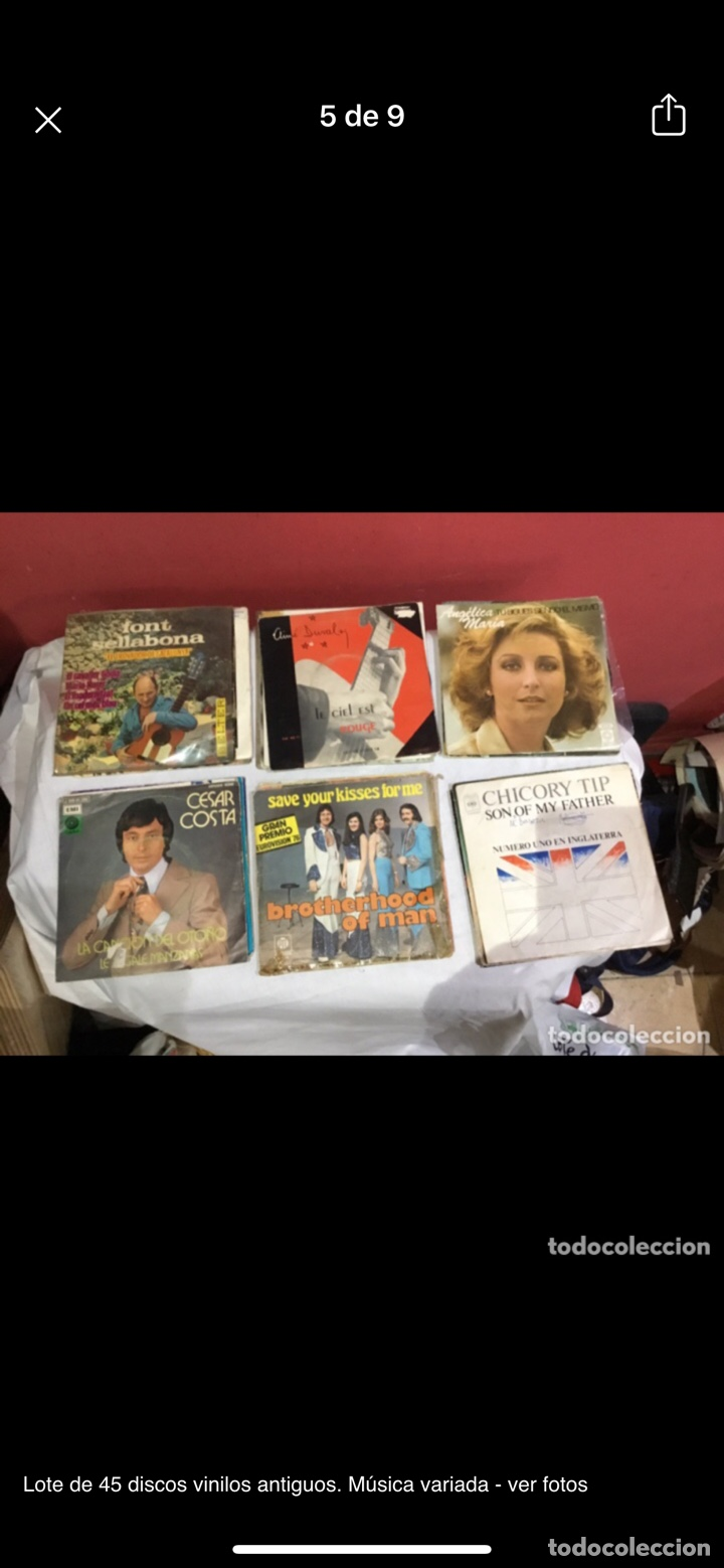 Discos de vinilo: Lote de 45 discos vinilos antiguos. Música variada - ver fotos - Foto 5 - 255380525