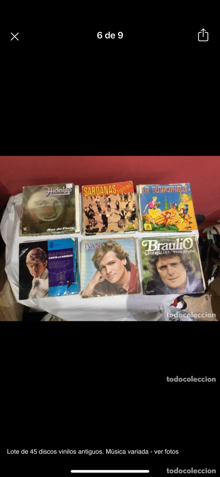 Discos de vinilo: Lote de 45 discos vinilos antiguos. Música variada - ver fotos - Foto 6 - 255380525